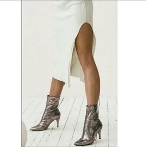 NEW Free People Willa Silver Ankle Boots